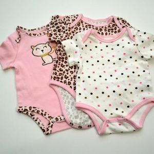 Best Beginnings Newborn Girls 3 Piece Lot